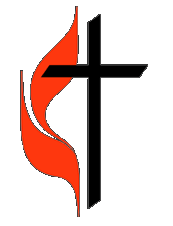 first united methodist church cross and flame logo